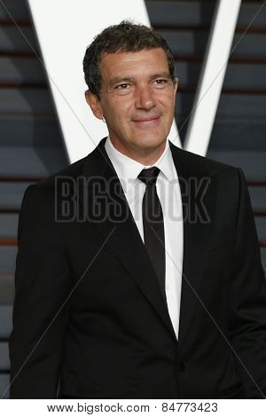 LOS ANGELES - FEB 22:  Antonio Banderas at the Vanity Fair Oscar Party 2015 at the Wallis Annenberg Center for the Performing Arts on February 22, 2015 in Beverly Hills, CA