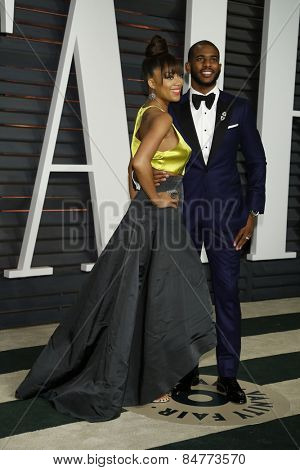 LOS ANGELES - FEB 22:  Jada Crawley, Chris Paul at the Vanity Fair Oscar Party 2015 at the Wallis Annenberg Center for the Performing Arts on February 22, 2015 in Beverly Hills, CA