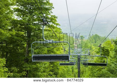 COLLINGWOOD, ON, CANADA - JUNE 18: Chairlift closed in summer at Blue Mountain Ski Resort, 2014