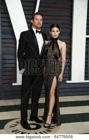 LOS ANGELES - FEB 22:  Channing Tatum, Jenna Dewan-Tatum at the Vanity Fair Oscar Party 2015 at the Wallis Annenberg Center for the Performing Arts on February 22, 2015 in Beverly Hills, CA