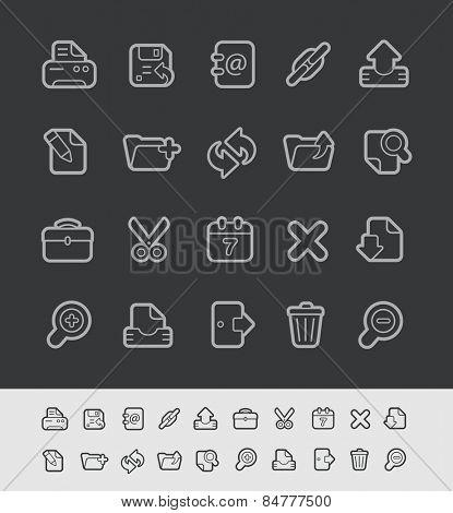 Web Icons // Black Line Series -- EPS 10+ Contain Transparencies