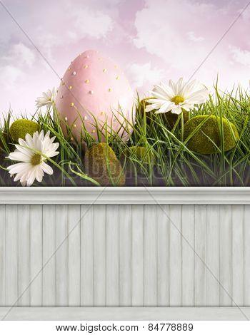Happy Easter Spring background/backdrop