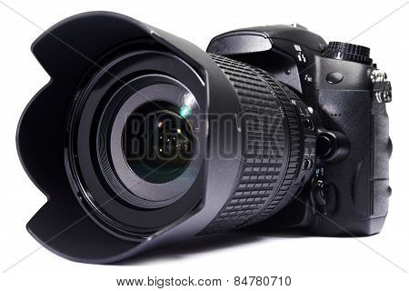 Dslr Camera White Isolated