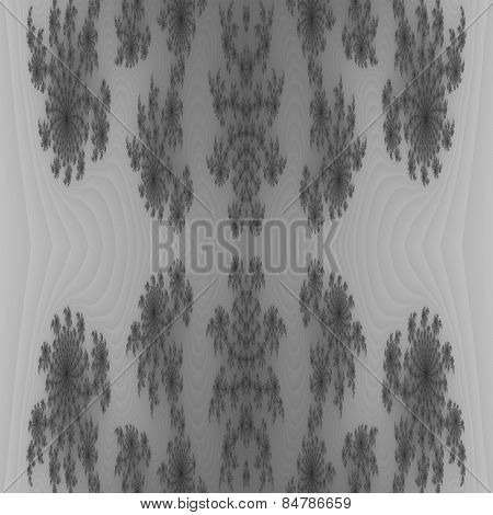 Abstract seamless fractal black white background