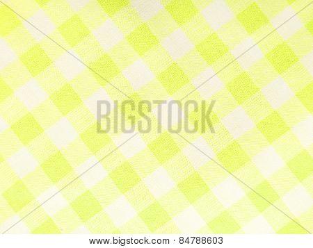 Yellow checked textile full frame