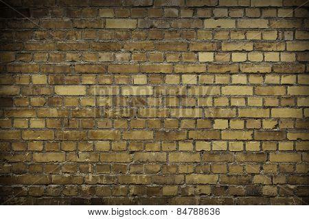 Close up of a Worn Brick wall