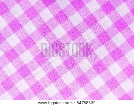Pink checked textile full frame