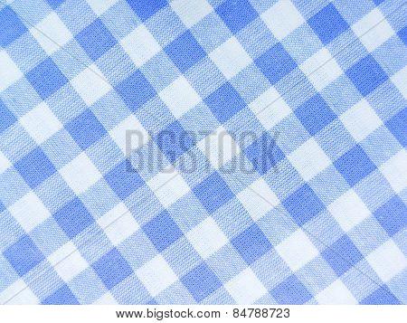 Blue checked textile full frame
