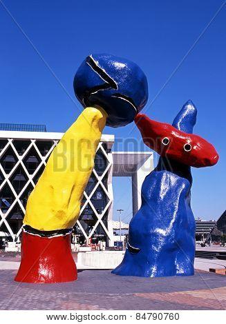 Miro sculptures, Paris.