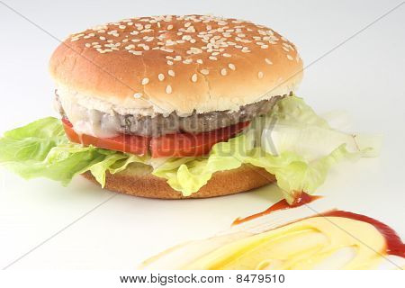 Burger And Condiments
