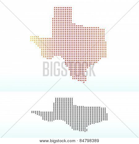 Map Of Usa Texas State With Dot Pattern