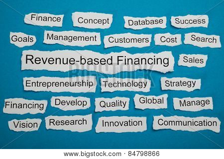 Revenue-based Financing Text On Piece Of Torn Paper
