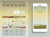 A complete presentation of web layouts for user interface with smart phone presentation.  poster
