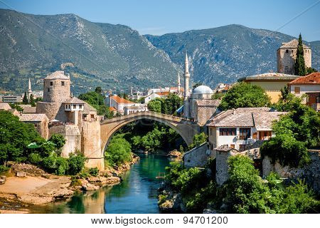 Mostar city view