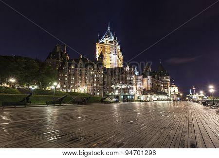 Frontenac Castle in Old Quebec city