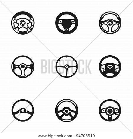 Vector Steering wheels icon set