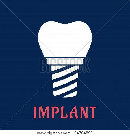 Dental implant with replacement crown