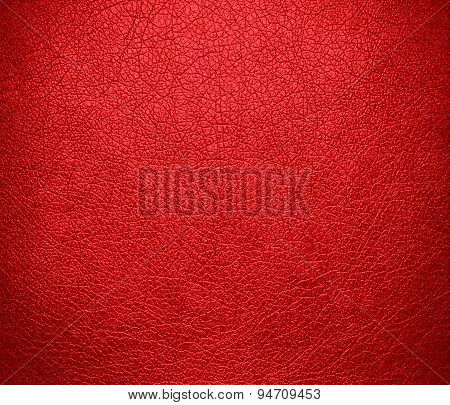 Deep carmine pink leather texture background