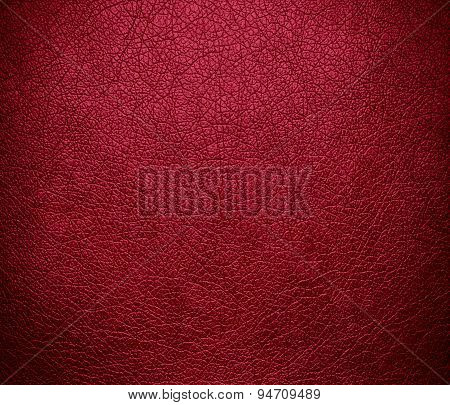 Deep carmine leather texture background