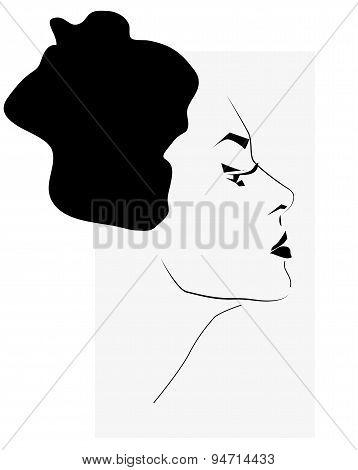 Woman Face Contour