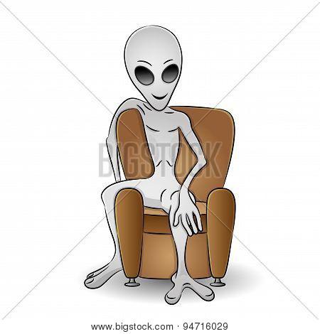 Illustration of alien