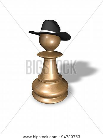Bossy Concept With Chess Pawn
