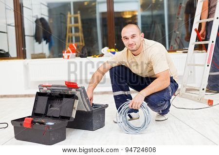 Handyman With Tool Box