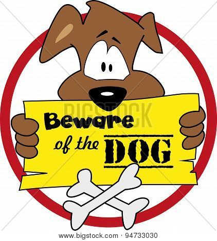 Beware of the dog - illustration vector