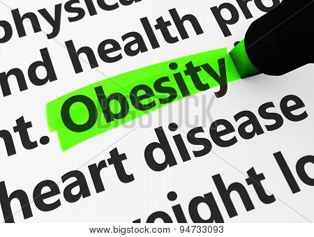Obesity Healthcare Concept