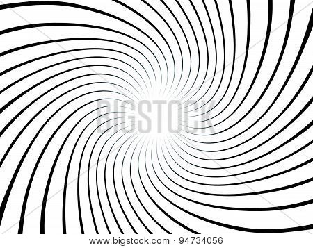 Swirling Background. Abstract Shapes Forming Vortex Phenomenon