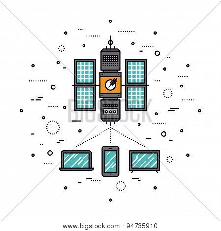 Cellular Transmission Line Style Illustration