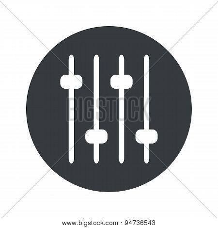 Monochrome round faders icon
