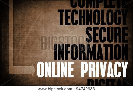 Online Privacy Core Principles as a Concept background poster
