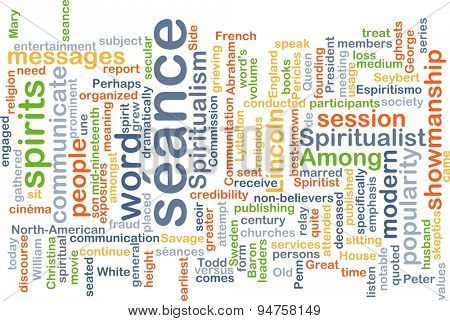 Background concept wordcloud illustration of s���©ance