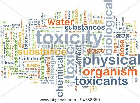 Background concept wordcloud illustration of toxicity