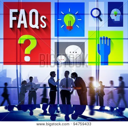 Frequently Asked Questions Help Information Answer Concept poster