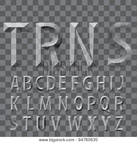 vector transparent emboss letters, easy to put your text on different background or photo