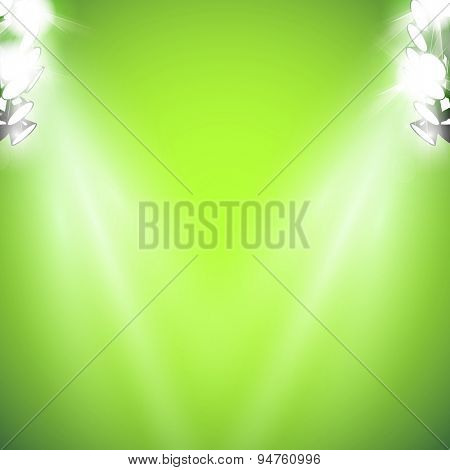 stage with light and Sparkling easy editable