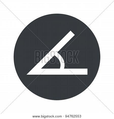 Monochrome round angle icon