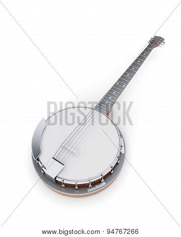 Banjo On A White