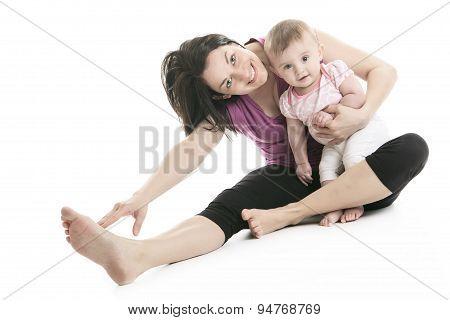 mother and baby gymnastics yoga