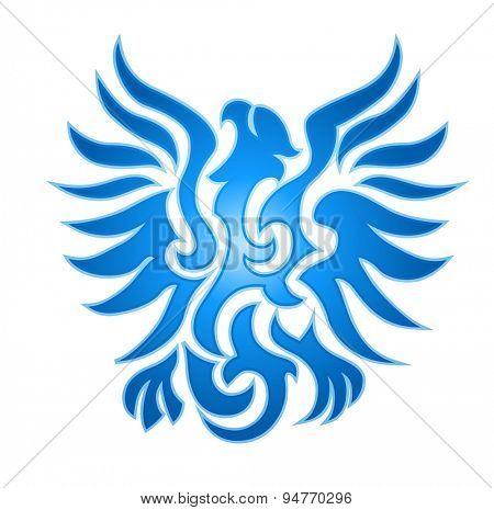 Blue eagle flame emblem