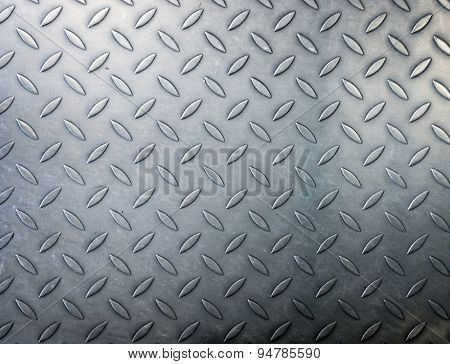 Pattern diamond metal plate background