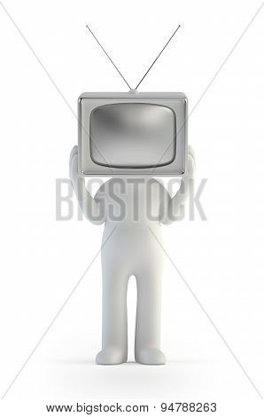 3D Small People - Tv Man