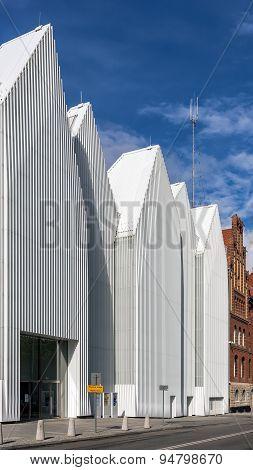 Facade of  The Szczecin Philharmonic Hall