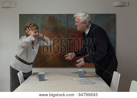 Disagreement Between Elderly Spouses