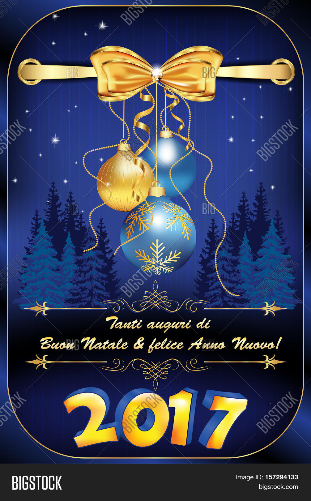 Auguri Di Buon Natale Merry Christmas.We Wish You Merry Image Photo Free Trial Bigstock