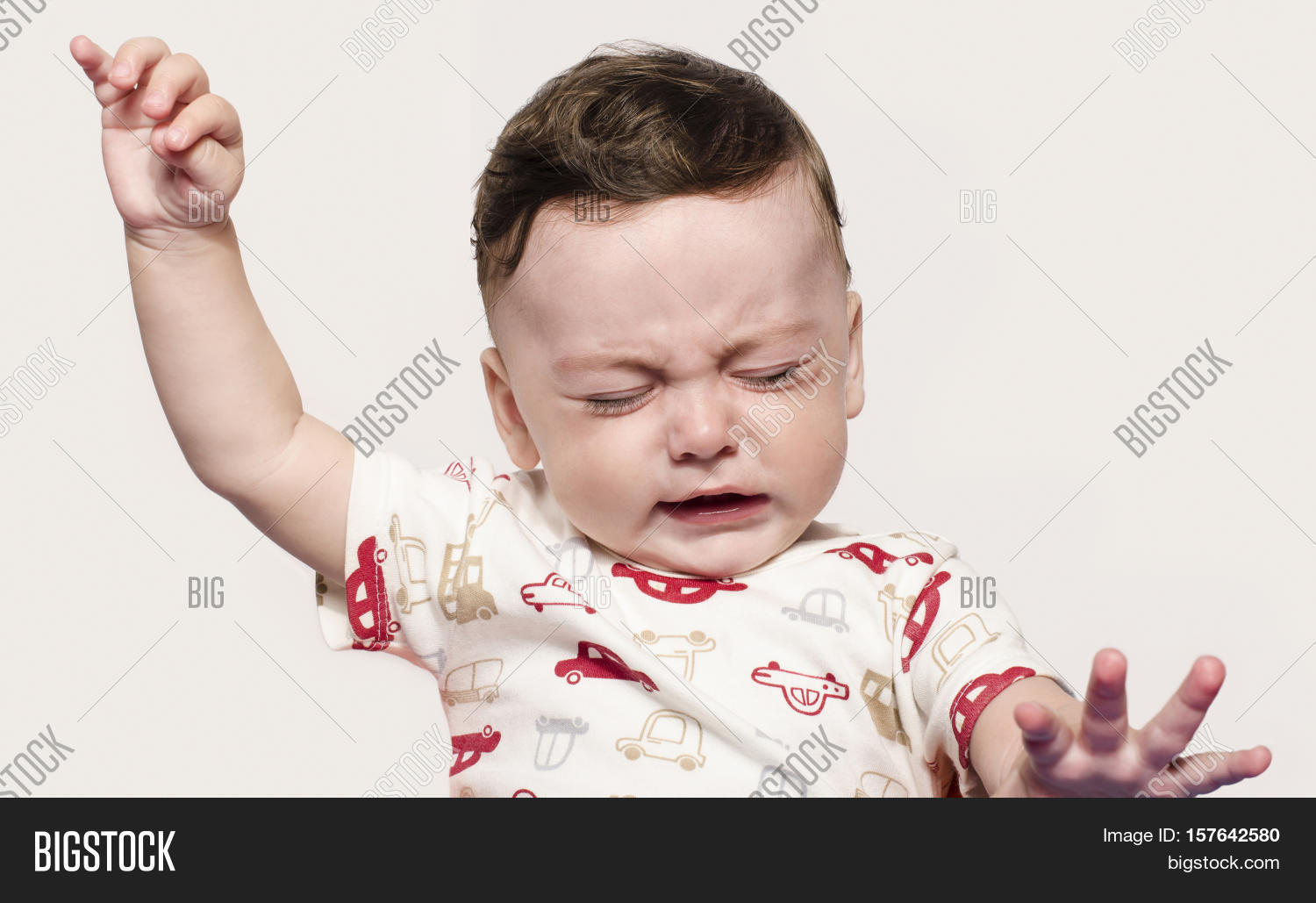 cute baby boy crying image & photo (free trial) | bigstock