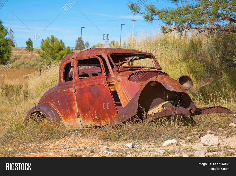 Abandond Rusty Wrecks Old Car Image & Photo | Bigstock