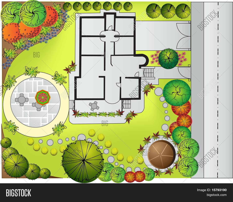 Plan Landscape Garden Vector Photo Free Trial Bigstock